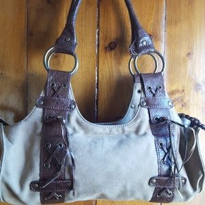 Tan handbag brown straps